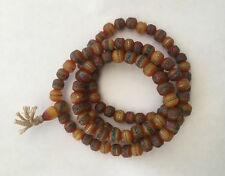Tibetan mala Amber Necklace yoga prayer beads meditation Necklace108 beads M10