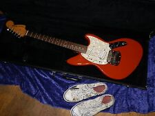 1996 Fender Jag-Stang Kurt Cobain Electric Guitar Fiesta Red Case 50th  Converse
