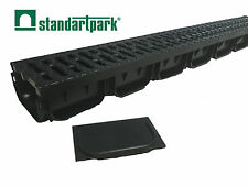 """Standartpark - S'PARK TRENCH DRAIN DRAINAGE SYSTEM 4"""" WITH GRATE"""