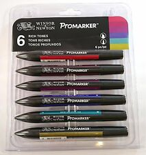 Winsor and Newton Letraset ProMarker Set (6 colours) - Rich Tones Twin Tip