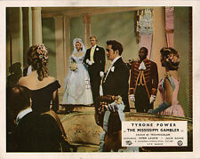 Mississippi Gambler original lobby card Tyrone power Piper Laurie wedding scene