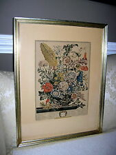 WILLIAMSBURG FURBER HAND COLORED ENGRAVING AUGUST