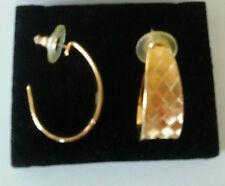 """AVON EARRINGS GOLD TONED  PIERCED  1 1/2""""L X  1/2W"""