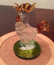 Rooster Blown Glass  Art Figurine Glass Good Luck Best Wishes Chinese New Year