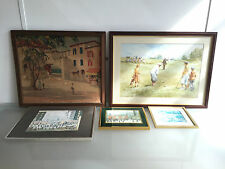 GENTLEMAN'S LOT OF 5 PRINTS - TRADITIONAL ARTWORK - LOWRY / GOLFING - VR