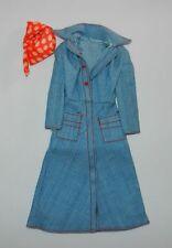 Vintage Barbie Kleidung Outfit #7819  Best buy Jeansmantel und Kopftuch