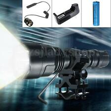 3000LM T6 LED Flashlight Hunting Light Torch Remote Switch +Mount +Charger