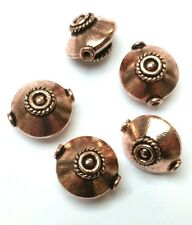 Superb quality heavy pure copper focal beads. Jewellery making  17 x 19 mm.
