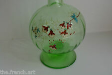 ANCIENNE CARAFE OU BOUTEILLE EMAILLE LEGRAS