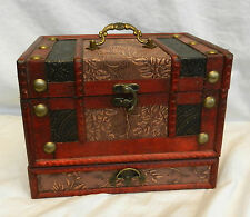 Chinese Wedding Chest Style Wooden Jewellery Box - BNIB