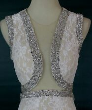 NWT Jovani Size 6 Sleeveless Open Back Lace Ivory Mock $850 Dress Prom Formal
