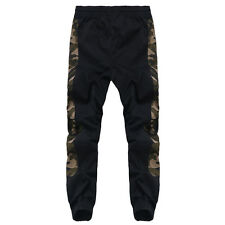 Mens Designer Army Camouflage Skinny Slim Fit Jogger Pants Sports Harem Trousers