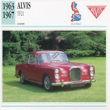 1963-1967 ALVIS TF21 Classic Car Photograph / Information Maxi Card
