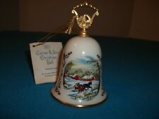 "Vintage 79 Currier & Ives Cristmas Bell ""Sleigh Ride"" Gorham Fine China In Box"