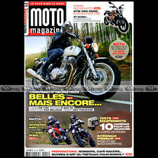 MOTO MAGAZINE N°298 DUCATI 696 MONSTER 1098 1198 GUZZI 940 BELLAGIO KTM 390 2013