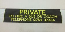 "West London Bus Blind Jan01 34""- Private To Hire A Bus Or Coach Tel"