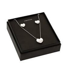 New Oroton Split Heart Necklace and Earrings Set Gift Box Present Jewellery