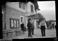 Portrait joueurs de pétanque boules Bonne sur Ménoge -  Négatif photo ancien