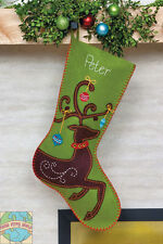 Felt Embroidery Kit ~ Dimensions Ornate Deer Christmas Stocking #72-08165