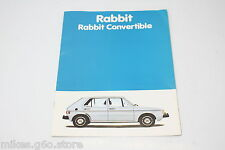 ORIGINAL VW GOLF 1 CABRIO US USA GTI RABBIT CONVERTIBLE PROSPEKT BROCHURE RAR