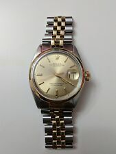 Men's Rolex Oyster Perpetual Datejust Watch 1601 Gold & Stainless Steel Jubilee