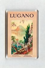 Vintage Travel Poster Fridge Magnet - Lugano, Suisse, Switzerland (3)