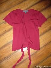 JOSEPHINE CHAUS ~ Size Medium ~ Cranberry Tie - Front Rayon Topper