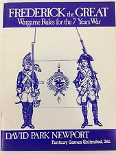 Frederick The Great Wargame Rules For The 7 Years War David Park Newport G