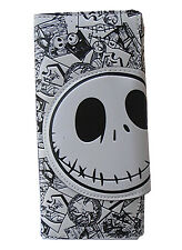 COOL Nightmare Before Christmas Jack Long Leather Clutch Holder Purse Wallet