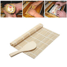 Kitchen Cook Tool Sushi Rolling Maker Bamboo Material DIY Mat A Rice Paddle Set