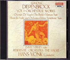Hans VONK: Alphons DIEPENBROCK De Vogels Marsyas Hymn Elektra CD Emmy Verhey