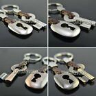 1 PAIR BRAIDED KEY CHAIN HOLDER KEYCHAIN FOB RING VALENTINE'S DAY X'MAS GIFTS