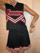 "WARRIORS Cheerleader Uniform Costume Outfit Elastic Waist Pleated Skirt 34"" Top"