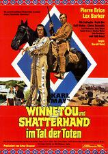 Winnetou und Shatterhand im Tal der Toten ORIG. DIN A1 Kinoplakat Brice / Barker