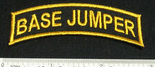 Set of 2 BASE JUMPER Patches for Skydive Parachute Rig Container Shirt Cap 25Q