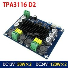 12V 24V 120w+120w TPA3116 Dual Channel digital Power audio amplifier board amp