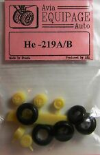 EQA72056 Equipage 1/72 Rubber Wheels for Heinkel He -219A / He-219B