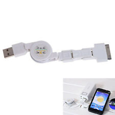 USB 3in1 Data Retractable Charger Sync Cable for iPhone 4 5 Android
