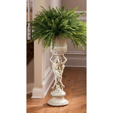 "36"" Neoclassical French Flair Dual Maidens Home Garden Pedestal Urn Plant Stand"