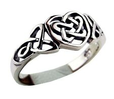 CELTIC LOVE HEART BEAUTIFUL 925 STERLING SILVER RING IN VARIOUS SIZES