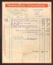 """ORLEANS (45) QUINCAILLERIE """"CROISSANDEAU"""" en 1936"""