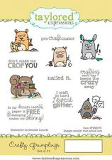Taylored Expressions Foam Mounted Rubber Cling Stamp Set Crafty Grumplings