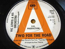 "VIC LEWIS & HIS ORCHESTRA - TWO FOR THE ROAD    7"" VINYL"
