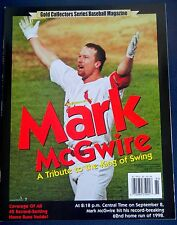 Mark McGwire TRIBUTE TO KING OF SWING Gold Collectors Series Baseball Magazine-