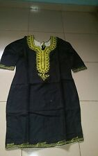 Black Women African clothing Embroidered dress in size 16