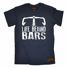 Life Behind Bars Cycling T-SHIRT Ride Bike Cycle Riding Funny Gift birthday