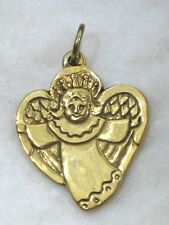 JEEP COLLINS Religious Jewelry Brass Angel Heart Pendant / Charm  KH