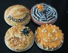 DOLLHOUSE MINIATURES 4 HALLOWEEN PIE BAKERY NIGHT PARTY FOOD SUPPLY DECO 1:12