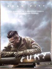 FURY Affiche Cinéma Preventive / Movie Poster 53x40 Brad Pitt Shia LaBeouf