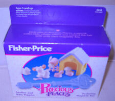 #8207 NRFB Vintage Fisher Price Precious Places Mother & Baby Puppies